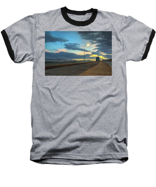 Last Light And Color Over Walnut Baseball T-Shirt by Steven Llorca