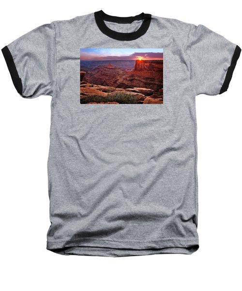 Last Light At Dead Horse Point Baseball T-Shirt