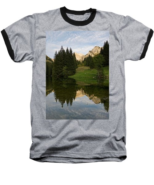 Last Light At Lac De Fontaine Baseball T-Shirt