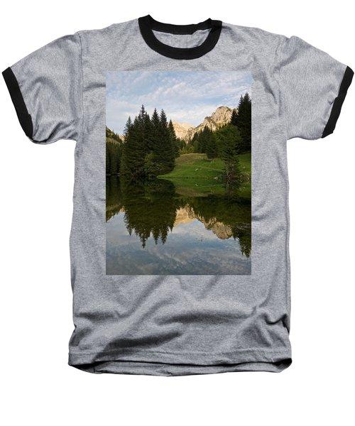 Last Light At Lac De Fontaine Baseball T-Shirt