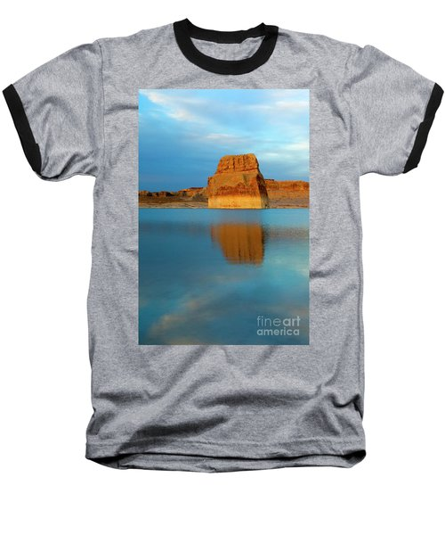 Baseball T-Shirt featuring the photograph Last Light At Lone Rock by Mike Dawson