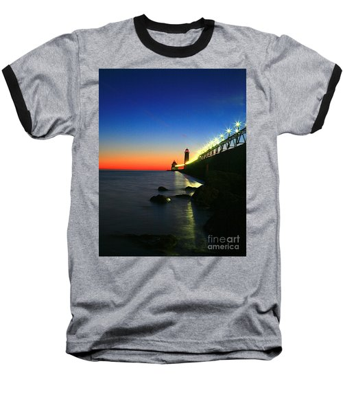 Last Light Grand Haven Michigan Baseball T-Shirt