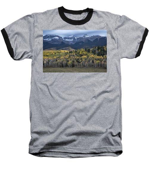Last Light On Autumn Aspens Baseball T-Shirt