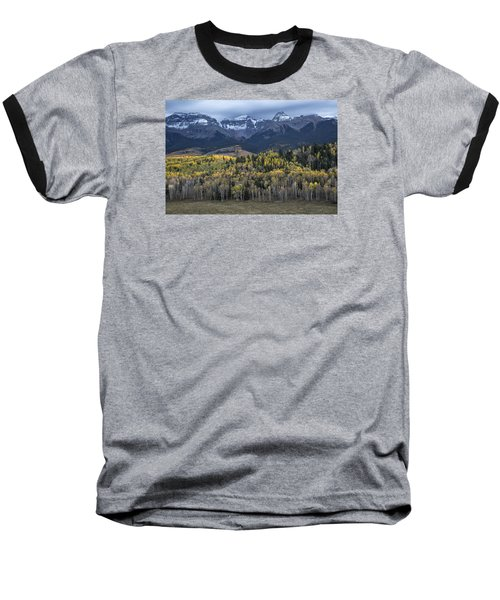 Last Light On Autumn Aspens Baseball T-Shirt