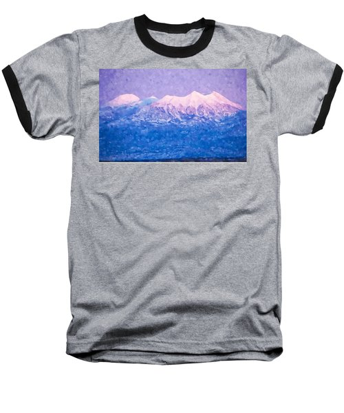 Last Light On Mount Peale From Buck Canyon Overlook Baseball T-Shirt by Kai Saarto