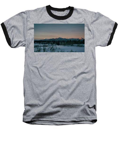 Last Light On Pagosa Peak Baseball T-Shirt