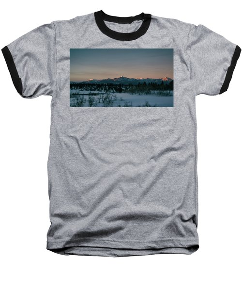 Last Light On Pagosa Peak Baseball T-Shirt