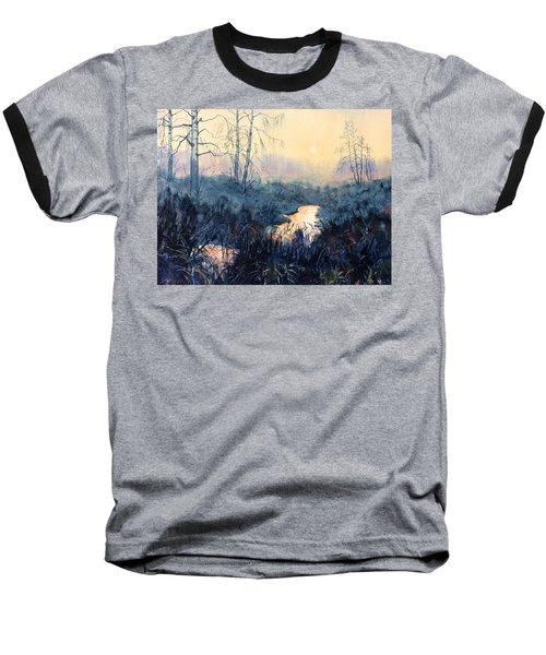Last Light On Skipwith Marshes Baseball T-Shirt