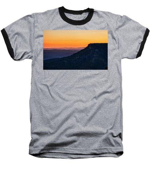 Baseball T-Shirt featuring the photograph Last Light On The Rim  by Saija Lehtonen