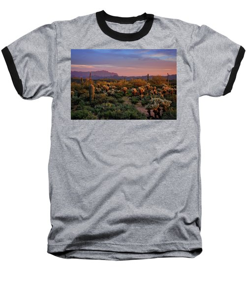 Baseball T-Shirt featuring the photograph Last Light On The Sonoran  by Saija Lehtonen
