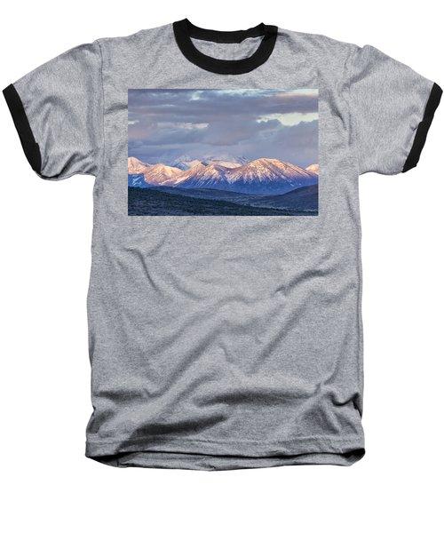 Last Light On Winter Peaks Baseball T-Shirt