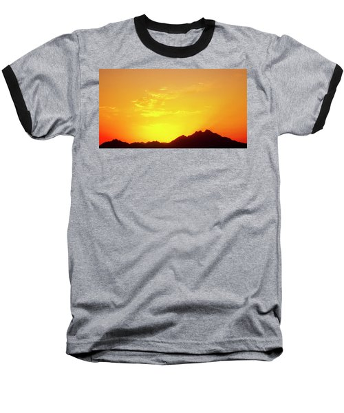 Last Moments Sunset In Africa Baseball T-Shirt