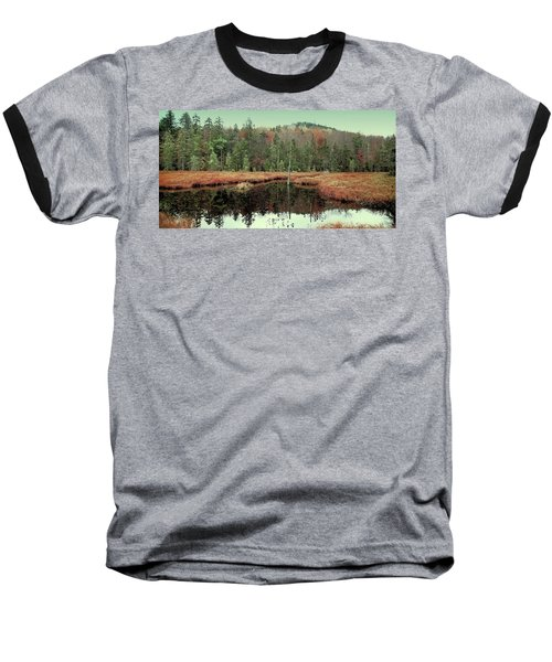 Baseball T-Shirt featuring the photograph Last Of Autumn On Fly Pond by David Patterson