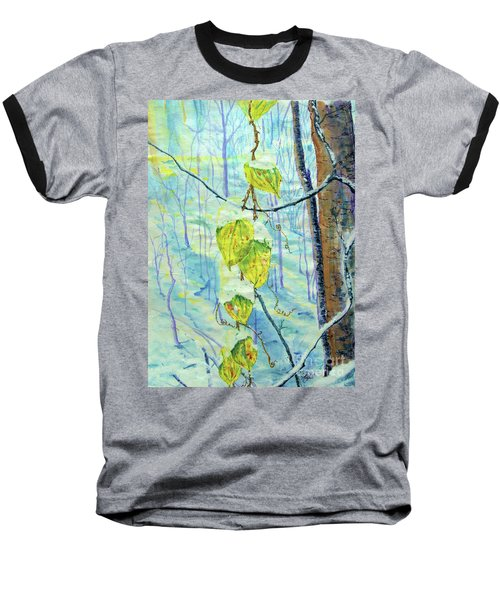 Last Of The Leaves Baseball T-Shirt