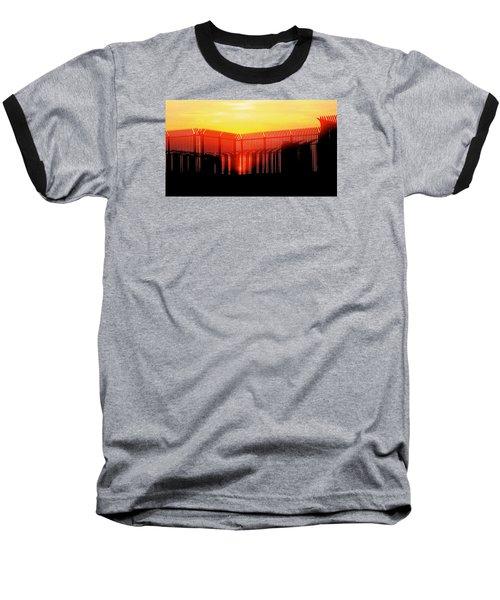 Last Ray Baseball T-Shirt by Yelena Tylkina