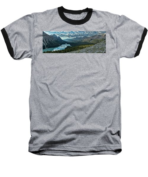 Last Rays Of Light Over Peyto Lake Baseball T-Shirt