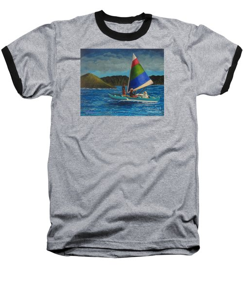 Last Sail Before The Storm Baseball T-Shirt by Laurie Morgan