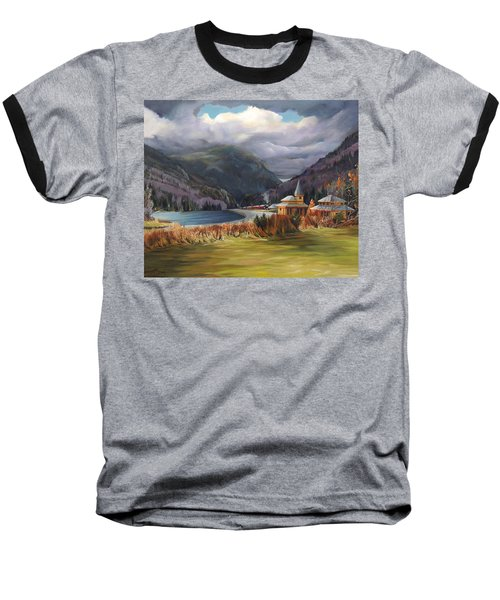 Last Train To Crawford Notch Depot Baseball T-Shirt