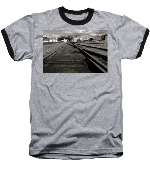 Last Train Track Out Baseball T-Shirt