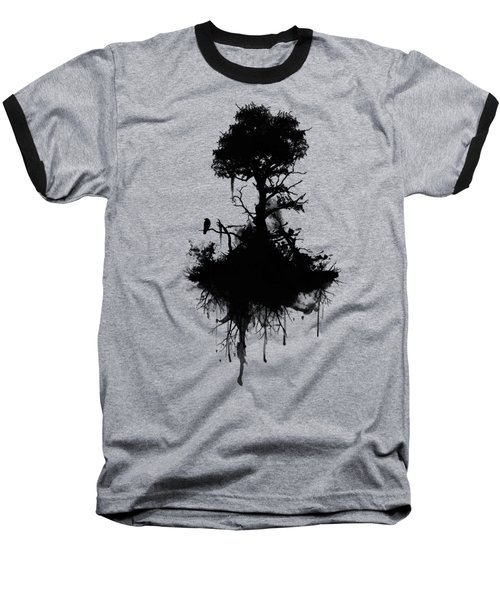 Last Tree Standing Baseball T-Shirt by Nicklas Gustafsson