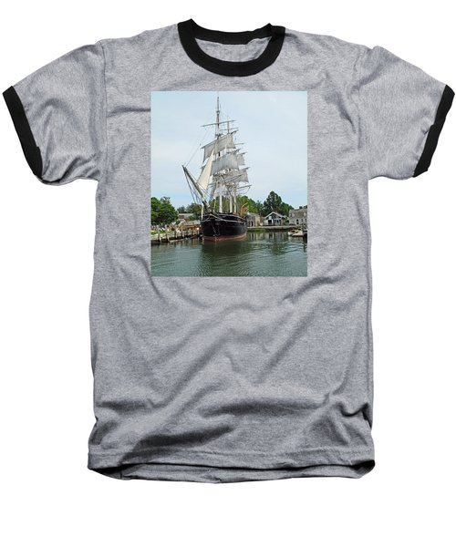 Last Wooden Whale Ship Baseball T-Shirt
