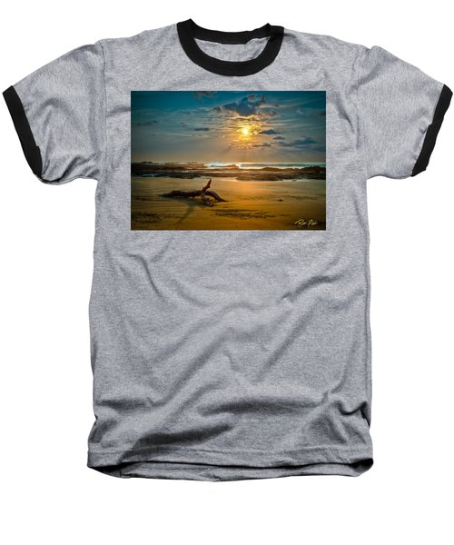 Baseball T-Shirt featuring the photograph Late Afternoon Costa Rican Beach Scene by Rikk Flohr