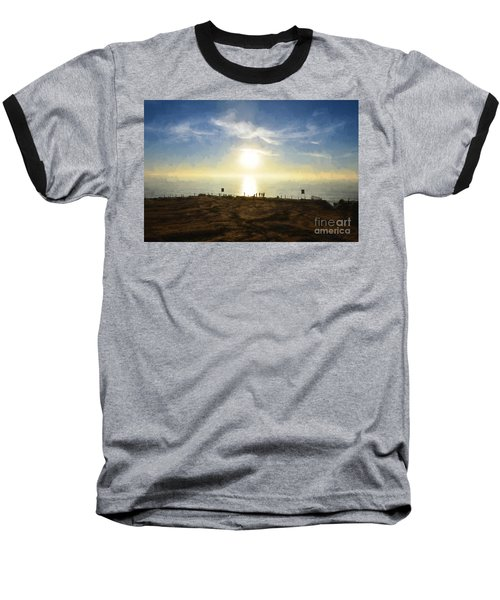 Late Afternoon - Digital Painting Baseball T-Shirt