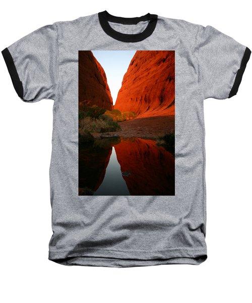 Late Afternoon Light And Reflections At Kata Tjuta In The Northern Territory Baseball T-Shirt