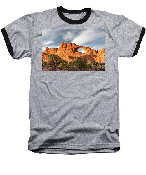 Late Afternoon Light On Skyline Arch Baseball T-Shirt