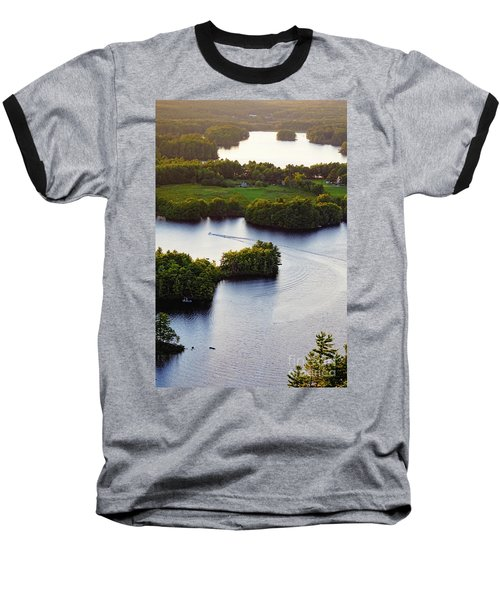 Late Afternoon On Lake Megunticook, Camden, Maine -43988 Baseball T-Shirt