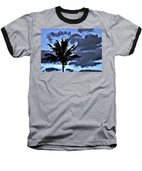 Late Day Palm Baseball T-Shirt by John Wartman