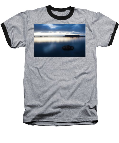 Late Evening On The Hikshari Baseball T-Shirt by Mark Alder