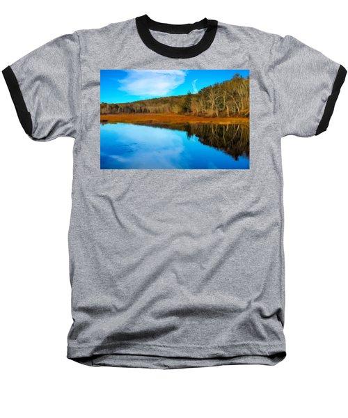 Late Fall At A Connecticut Marsh. Baseball T-Shirt