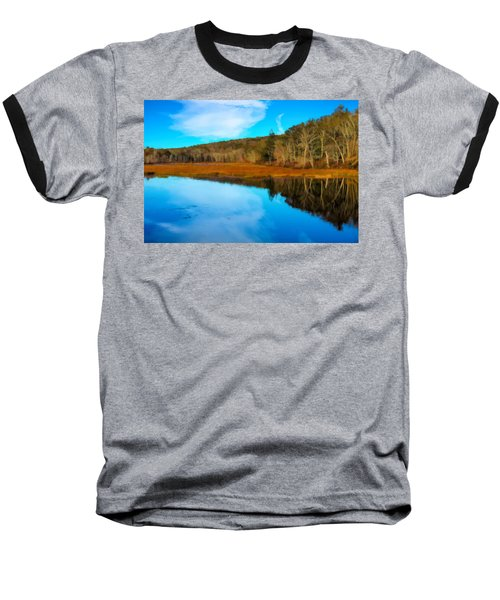 Late Fall At A Connecticut Marsh. Baseball T-Shirt