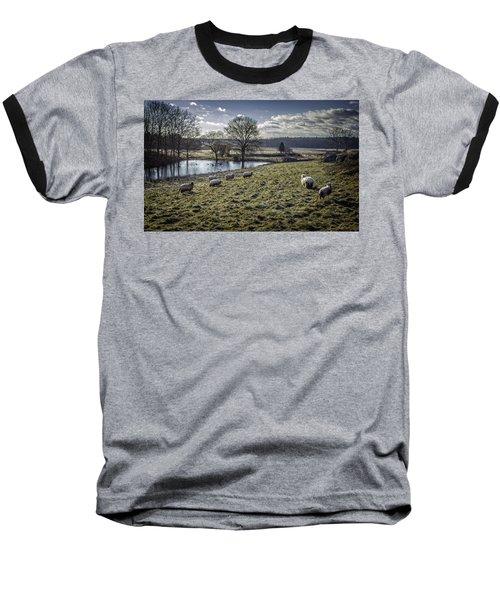 Late Fall Pastoral Baseball T-Shirt