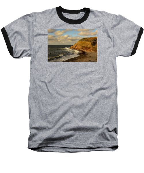 Late In The Day In Cheticamp Baseball T-Shirt by Ken Morris
