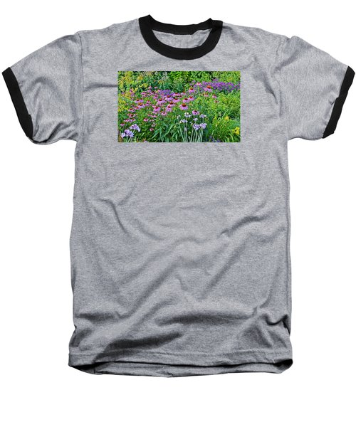 Late July Garden 2 Baseball T-Shirt by Janis Nussbaum Senungetuk