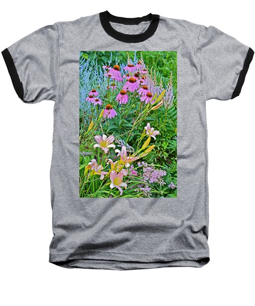Late July Garden 3 Baseball T-Shirt