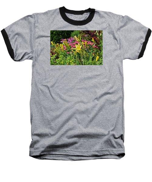 Late July Garden 1 Baseball T-Shirt by Janis Nussbaum Senungetuk