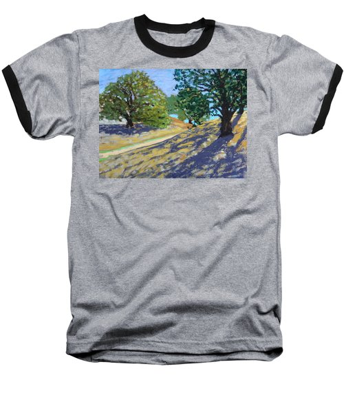 Baseball T-Shirt featuring the painting Late Light's Shadows by Gary Coleman