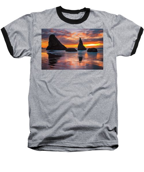 Baseball T-Shirt featuring the photograph Late Night Cloud Dance by Darren White