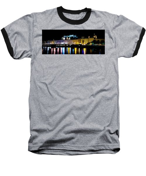 Baseball T-Shirt featuring the photograph Late Night Stroll In Salzburg by David Morefield