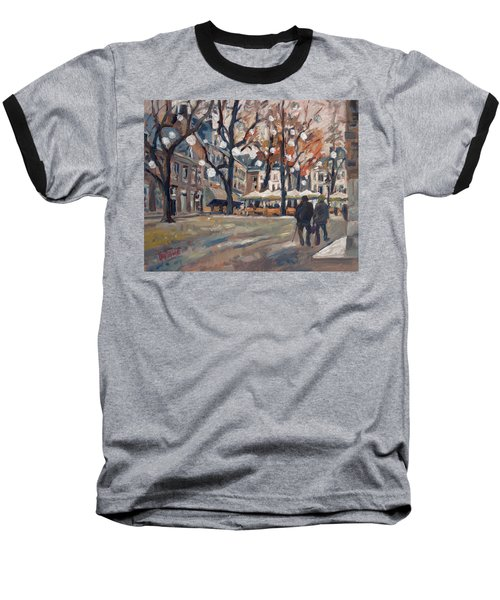 Late November At The Our Lady Square Maastricht Baseball T-Shirt by Nop Briex
