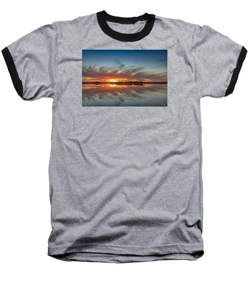 Baseball T-Shirt featuring the digital art Late November Reflections by Phil Mancuso