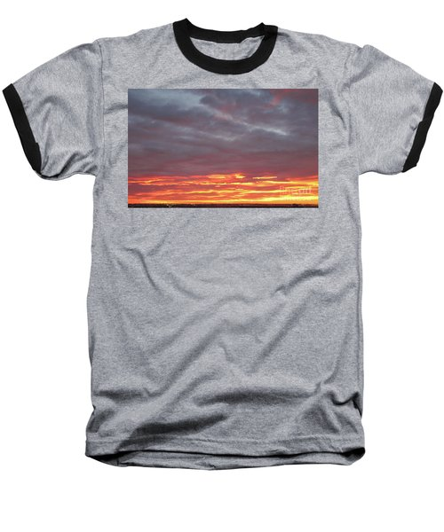 Late Prairie Sunrise Baseball T-Shirt