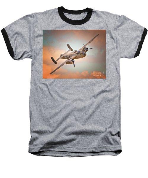 Late Return,north American B-25 Mitchell  Baseball T-Shirt