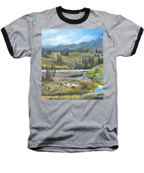Late Summer In Yellowstone Baseball T-Shirt by Lori Brackett