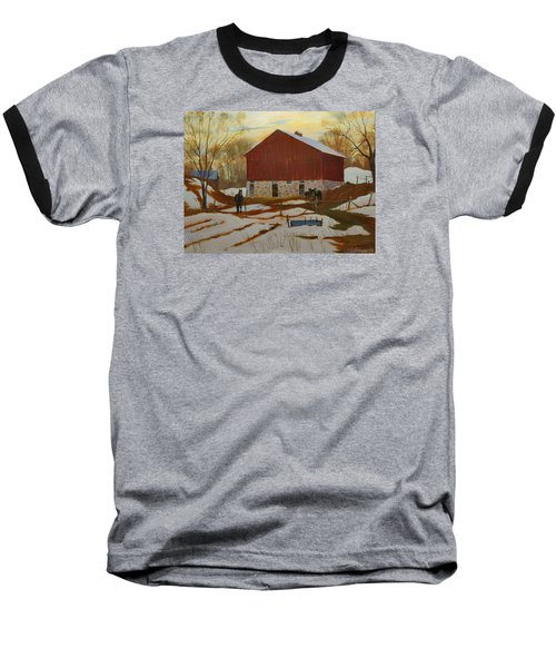 Late Winter At The Farm Baseball T-Shirt