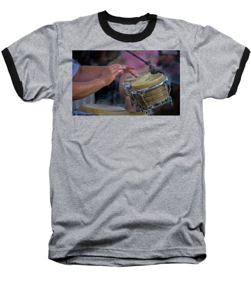 Baseball T-Shirt featuring the photograph Latin Jazz Musician by James Woody