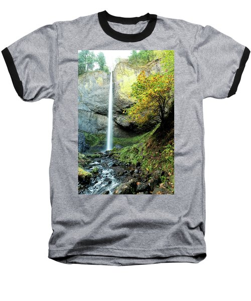 Latourell Falls Baseball T-Shirt